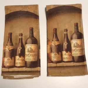 "Wine Kitchen Towels, Set of 2, 25"" L x 15.25"" W"